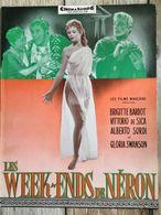 Synopsis Film Les Week End De Neron Brigitte Bardot Victorio De Sica Gloria Swanson Alberto Sordi - Programs