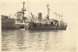 NAVIRES DE GUERRE RUSSES JANVIER 1931 - KAROUBA TUNISIE - PHOTO DIM 8,5X5,5 Cms - Barcos
