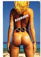 BENIDORM (ESPAGNE) Bonndie, La Sueca, Femme Nue De Dos Et Lunettes De Plongée, Ed. Ediciones 1988 - Humour