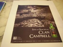 PUBLICITE AFFICHE WHISKY CLAN CAMPBELL - Alcohols