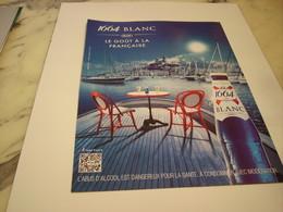 PUBLICITE AFFICHE BIERE 1664 BLANC - Alcohols