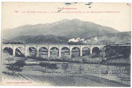 Cpa Le Boulou - Le Viaduc Du Chemin De Fer Et Les Montagnes De St-Christolphe - France