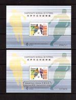 Macao-1998,(Mi.Bl.56+56I), Football, Soccer, Fussball,calcio,MNH - Coupe Du Monde