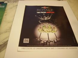 PUBLICITE AFFICHE MARTINI ROYALE - Alcohols