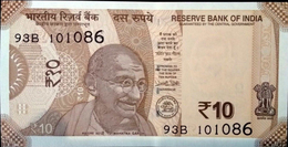 INDIA BANKNOTE, TEN RUPEES, 2017, UNC, SERIAL NUMBER MAY VARY - India