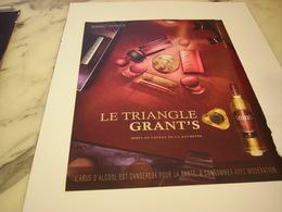 PUBLICITE AFFICHE WHISKEY GRANT S - Alcohols