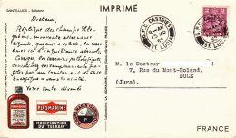 "SAINTE LUCIE - 1952 - ""dear Doctor Card"" -  Plasmarine - St.Lucia (1979-...)"