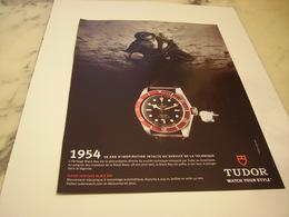 PUBLICITE AFFICHE MONTRE TUDOR - Jewels & Clocks