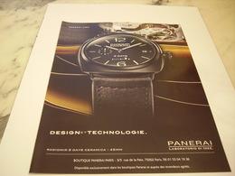 PUBLICITE AFFICHE MONTRE PANERAI - Jewels & Clocks