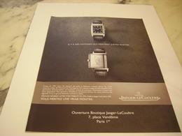 PUBLICITE AFFICHE MONTRE JAEGER-LECOULTRE - Jewels & Clocks