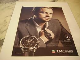 PUBLICITE AFFICHE MONTRE TAGHEUER AVEC LEONARDO DICAPRIO - Bijoux & Horlogerie