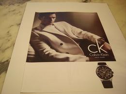 PUBLICITE AFFICHE MONTRE CALVIN KLEIN - Jewels & Clocks