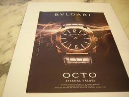 PUBLICITE AFFICHE MONTRE BULGARI - Jewels & Clocks