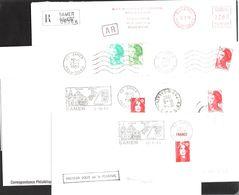FRANCE '62 SAMER'  1982/1993  6 MARQUES POSTALES Et  OBLITERATIONS - Marcophilie (Lettres)