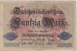 Allemagne - Billet De 50 Mark - 5 Août 1914 - [ 2] 1871-1918 : Empire Allemand