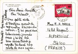 COTE D'IVOIRE - ABIDJAN - Le Plateau, Le Pont De Gaulle - Beau Timbre - Belle Carte Postée - Ivory Coast