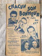 Partition Musicale Chacun Son Bonheur Roland Gerbeau Les Soeurs Etienne Nick Power Jean Patart - Scores & Partitions
