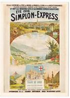 CPM Reproduction D'Affiche Ancienne SIMPLON-EXPRESS été 1906 Chemins De Fer - Treinen