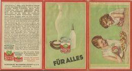 2 Faltkarten Glücksklee Kondensmilch Neustadt In Holstein - Lesen #01 - Advertising