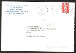 FRANCE '62 VERQUIN P.P.'  1991  1 OBLITERATION - Marcophilie (Lettres)