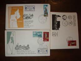 Palestine Palastina Cisjordanie Golan Sinai Lot 110 FDC Illustrées Ouverture Bureau De Poste Lettre Cover Carta Belege - Palestine