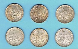 FRANCE-LOT DE PIECES DE 2 FRANCS-1914-1915-1917-1918- - Collections