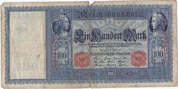 Allemagne - Billet De 100 Mark - 21 Avril 1910 - Sceau Rouge - [ 2] 1871-1918 : Imperio Alemán