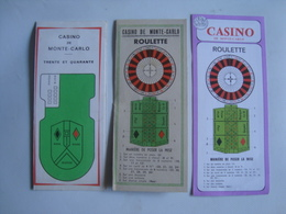 CASINO DE MONTE-CARLO: ROULETTE. TRENTE ET QUARANTE - MONACO, 60s. 3 BI-FOLDS. - Unclassified