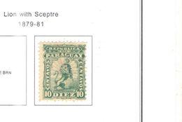 Paraguay PO+PA 1879/81 Leone Con Scettro Scott 13+Nuovi+ See Scans - Paraguay