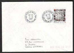 FRANCE '62 VIOLAINES GA'  1987  1  OBLITERATION - Marcophilie (Lettres)