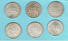 FRANCE-LOT DE PIECES DE 1 FRANC-1915-2 SCANS- - Collections