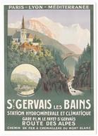 CPM Reproduction D'Affiche Ancienne ST GERVAIS LES BAINS Chemin De Fer PLM - Trains