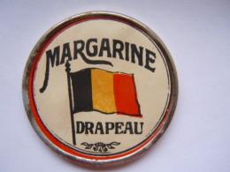 """Spiegel Miroir Reclame Publicité Margarine """"Le Drapeau""""  Merxem Merksem Diam 4,7 Cm - Andere"""