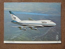 IRAN AIR  B 747 SP    CARTE ABIMEE AU VERSO - 1946-....: Modern Era