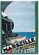 CPM Reproduction D'Affiche Ancienne MARSEILLE Chemin De Fer PLM - Trains