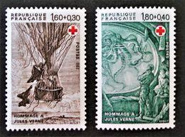 HOMMAGE A JULES VERNE 1982 - NEUFS ** - YT 2247/48 - MI 2367/68 - Unused Stamps