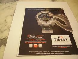 PUBLICITE AFFICHE MONTRE TISSOT - Bijoux & Horlogerie