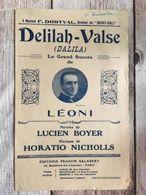 Partition Musicale Delilah Valse Dalila Leoni - Scores & Partitions