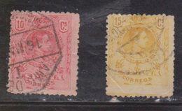 SPAIN Scott # 299, 310 Used - King Alphonse III - 1889-1931 Kingdom: Alphonse XIII