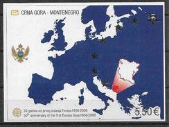2006 MONTENEGRO BF 3** Cinquantenaire Europa, Carte, Côte 25.00 - Macédoine