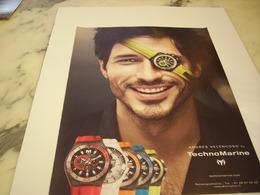PUBLICITE AFFICHE MONTRE TECHNOMARINE AVEC ANDRES VELENCOSO - Jewels & Clocks