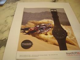 PUBLICITE AFFICHE MONTRE SWATCH - Jewels & Clocks