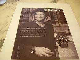 PUBLICITE AFFICHE MONTRE G-SHOCK AVEC CYRIL PAGLIANO - Jewels & Clocks