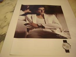 PUBLICITE AFFICHE MONTRE CALVIN KLEIN - Bijoux & Horlogerie