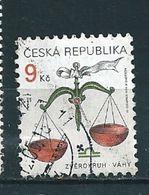 N° 212 Signe Zodiaque - Balance - Offert  Timbre République Tchèque (1999) Oblitéré - Gebraucht