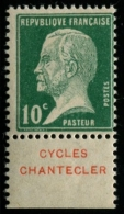 """Lot N°3288a France Timbre Publicitaire N°31B """"Cycles Chantecler"""" Neuf * Qualité TB - Advertising"""