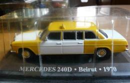 TAXI MERCEDES 240D BEIRUT BEYROUT 1970  COLLECTION TAXIS DU MONDE ALTAYA  VOITURE MINIATURE ECH. 1/43 - Cars & 4-wheels