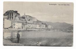 VENTIMIGLIA - FOCE DEL FIUME ROIA 1908   VIAGGIATA FP - Imperia