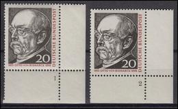 463 Otto Fürst Von Bismarck 1965: 2 Ecken Mit FN 1und FN 2 ** - [7] West-Duitsland