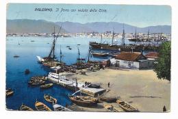 PALERMO - IL PORTO CON VEDUTA DELLA CITTA' - VIAGGIATA FP - Palermo